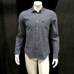 Burberry Brit Men's Blue Gingham Plaid Shirt